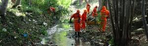 Consciência Limpa: Semulsp inicia limpeza do igarapé do Coroado (Onofre Martins/Rede Amazônica)