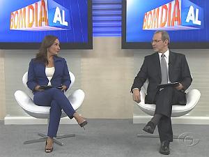 Liara e Gilvan apresetam as notícias que movimentaram o fim de semana em Alagoas (Foto: Reprodução/TV Gazeta)