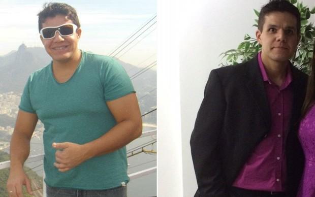 Mayko Viana Almeida, de 28 anos, pesava 103 kg; hoje, tem 72 kg (Foto: Mayko Viana Almeida/Arquivo pessoal)