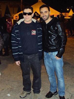 Diego e o amigo Fabiano Moutinho: limitação não evitou superação (Foto: Arquivo Pessoal / Fabiano Moutinho)