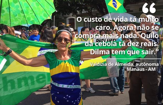 Protesto Manaus 16/08 (Foto: G1)