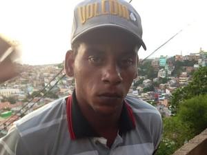 Barriga estava em liberdade condicional, fugiu e foi encontrado em Arraial do Cabo (Foto: Blog Repórter Eduander Silva)