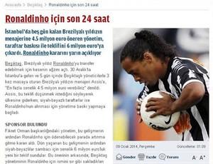 ronaldinho gaucho jornal turco (Foto: Reprodução )