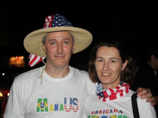Casal relatou experiência em Manaus para a Copa (Foto: Romulo de Sousa/G1 AM)