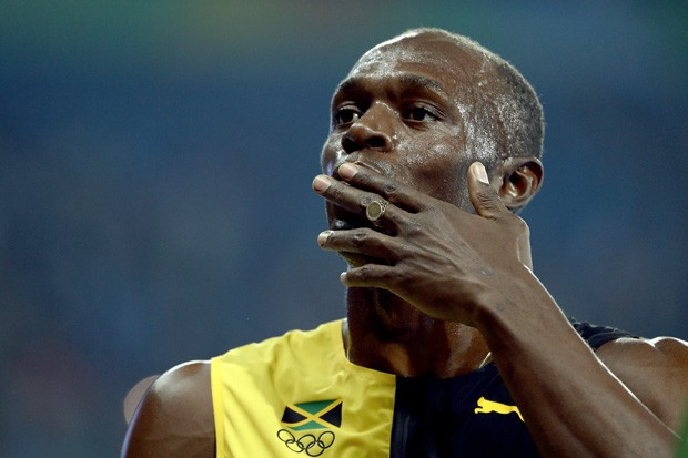 Usain Bolt não acreditou no que viu (Foto: Cameron Spencer/Getty Images)