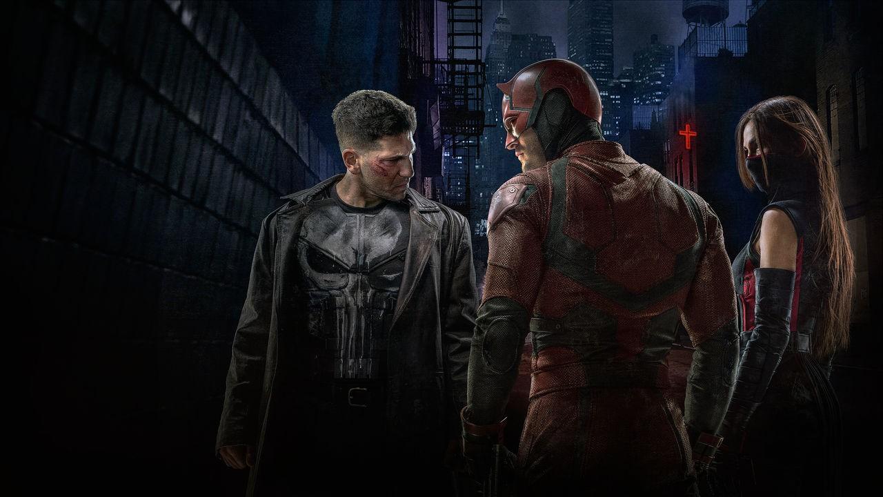 Justiceiro, Demolidor e Elektra protagonizam a segunda temporada da série produzida pela Netflix (Foto: Reprodução)