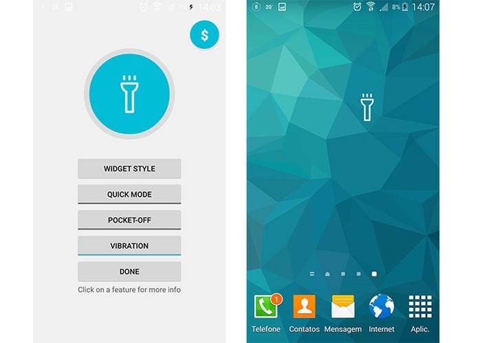 Adicione uma lanterna no Android (Foto: Reprodução/Barbara Mannara)