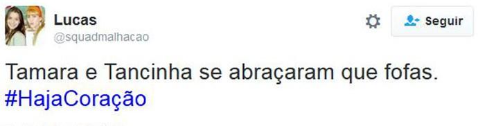 tancinha e tamara (Foto: Twitter)