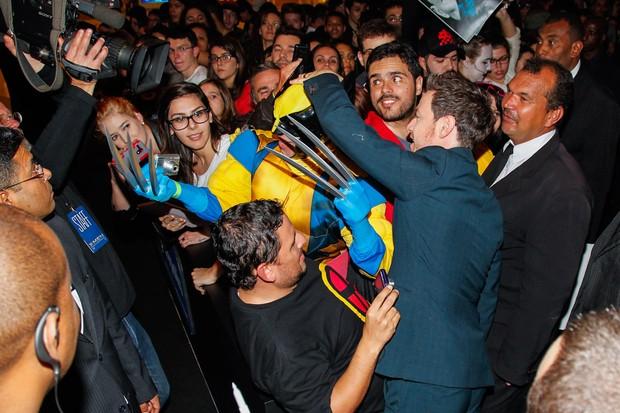 Pré-estreia de X-Men em São Paulo (Foto: Manuela Scarpa / Foto Rio News)