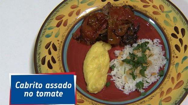 'Que Marravilha!': carr de cabrito com pur de baroa e arroz branco no alho, da Famlia Batista (Foto: Reproduo GNT)