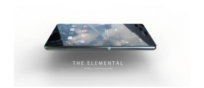Imagem vazada mostra Xperia Z4 com nova cor e, possivelmente, porta USB impermeável (Foto: Reprodução/Android Community)