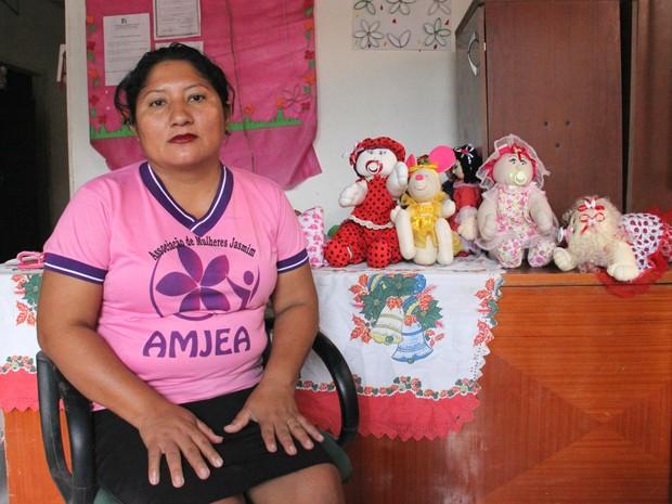 Cacilda Viana, 36 anos, teve a ideia de criar a associação (Foto: Ive Rylo/ G1 AM)