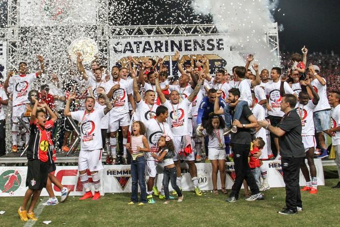 Joinville campeão taça  (Foto: Anderson Pinheiro / Agência Estado)