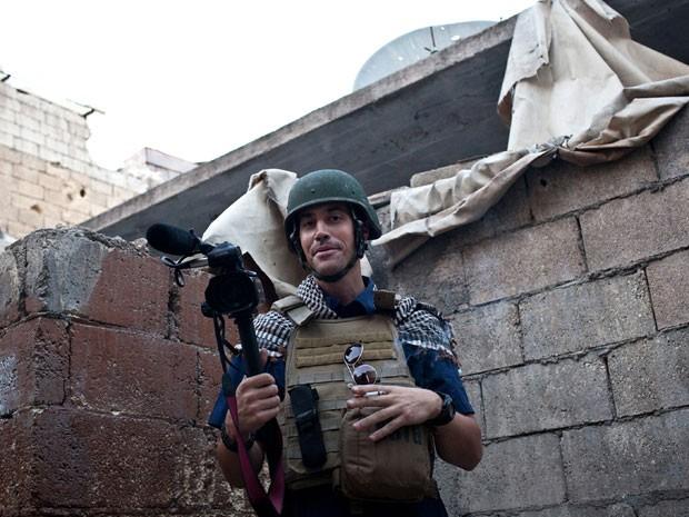 James Foley em foto de 5 de novembro em Aleppo, na Síria (Foto: Nicole Tung/AFP)