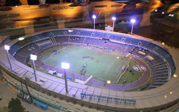 Maquete do Olímpico é inaugurada e será levada à Arena (Foto: Lucas Uebel/Grêmio FBPA)