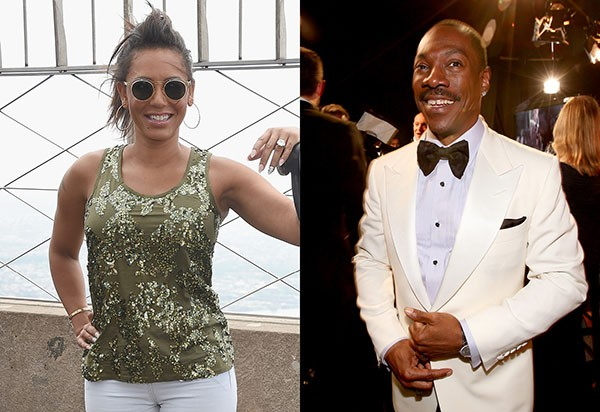 Melanie Brown e Eddie Murphy (Foto: Getty Images)