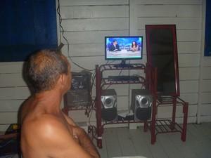 Cristóvão comunidade Santarém (Foto: Cristóvão/Arquivo Pessoal)
