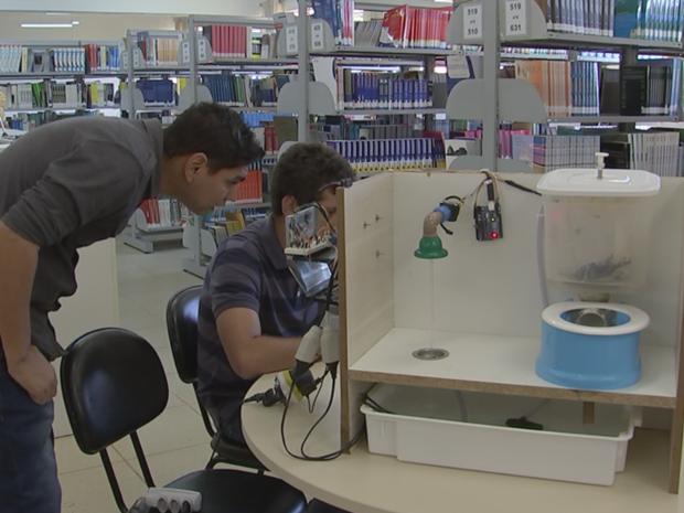 Inovação de alunos de Itapetininga promete inovar conceito de banheiros (Foto: Reprodução/TV TEM)