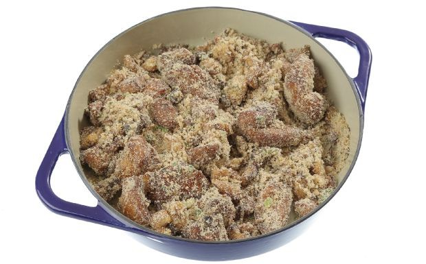 Farofada de frango: receita da Gonalina do 'Cozinheiros em Ao' (Foto: Adalberto de Melo