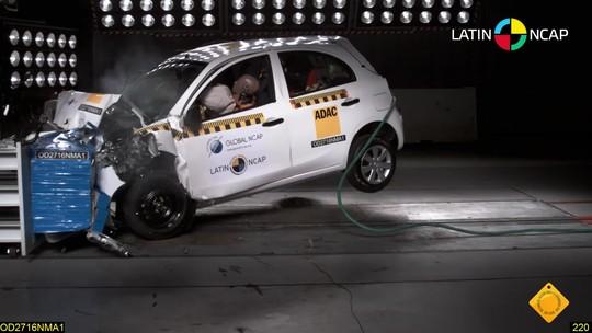 Latin NCap reduz nota de Nissan March e Versa após novos testes