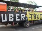 Polêmica entre Uber e táxi vira temática de caminhão no Corso 2017
