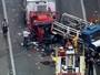 Acidente entre caminhões deixa Rodovia Anhanguera travada
