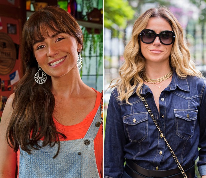 Para viver diferentes personagens, Giovanna Antonelli já passou por diversas transformações. À esquerda como Clara, em Em Família e à direita em A Regra do Jogo, como Atena.  (Foto: TV Globo)