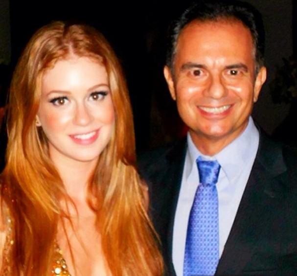 Marina Ruy Barbosa e seu pai, Paulo (Foto: Reprodução)