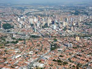 Imagem aérea de Limeira (Foto: Wagner Morente/Prefeitura de Limeira)