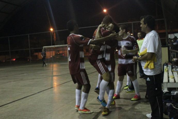 Tabajaras comemora gol marcado (Foto: Wenner Tito)