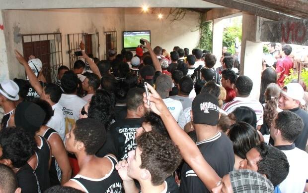 Torcida do Corinthians em Manaus (Foto: Anderson Silva/Globoesporte.com)