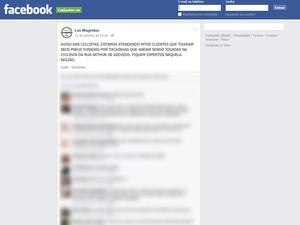 Biciletaria avisou clientes pelo Facebook (Foto: Las Magrelas/Reprodução Facebook)