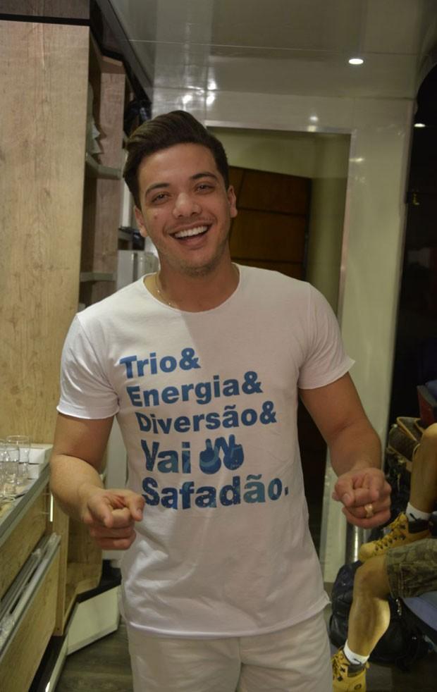 Wesley Safadão antes de seu show no Fortal (Foto: Divulgação / Davi Magalhães)