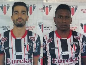 João Vitor Maia Nicolau e Leandro Augusto da Silva atletas do Nacional de Muriaé (Foto: NAC/Divulgação)