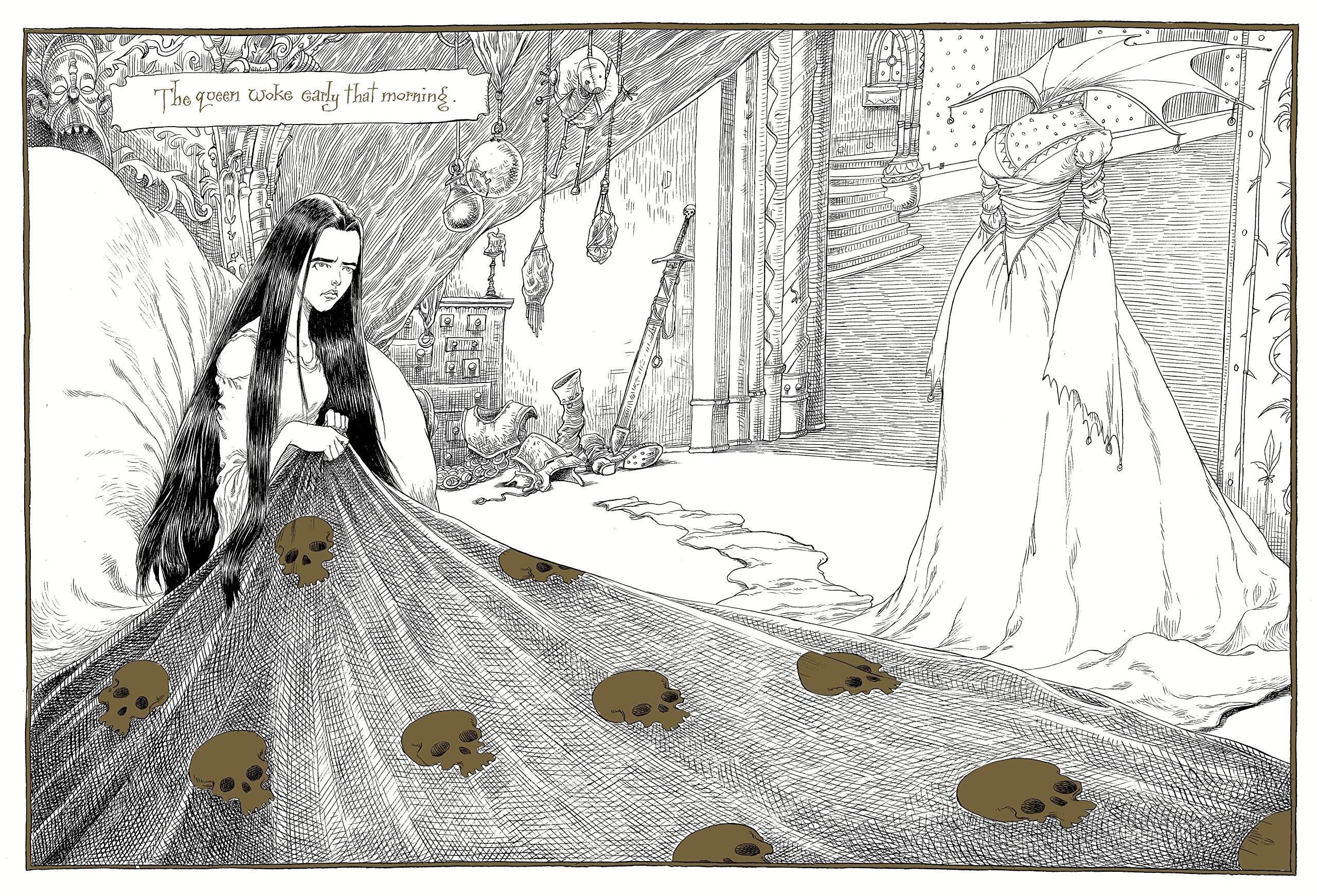 A rainha, personagem inspirada em Branca de Neve (Foto: Reprodução/Amazon)
