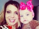 Sheila Mello comemora os seis meses da filha, Brenda: 'Minha vida'