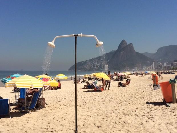 Segunda-feira de sol e calor no Rio (Foto: Matheus Rodrigues / G1)