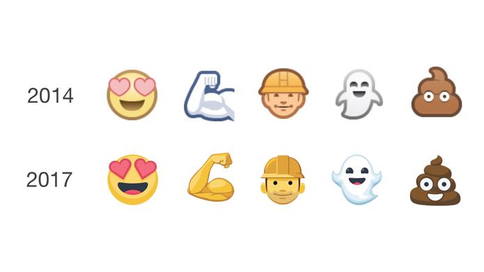 Emojis do Facebook ganharam novos designs (Foto: Reprodução/Emojipedia)