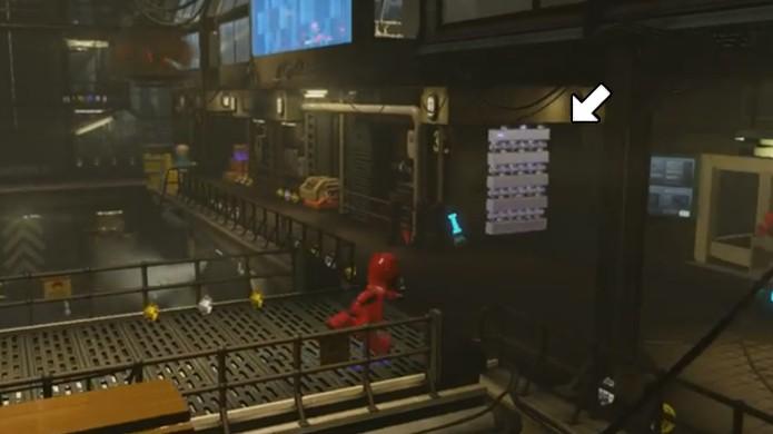 Exploda esta porta para encontrar o Vibranium que o Colecionador procura em LEGO Avengers (Foto: Reprodução/Rafael Monteiro)
