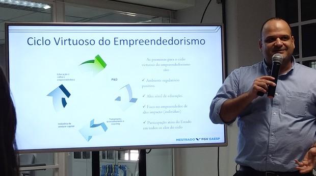 Professor Gilberto Sarfati, da FGV (Foto: Vitória Batistoti)