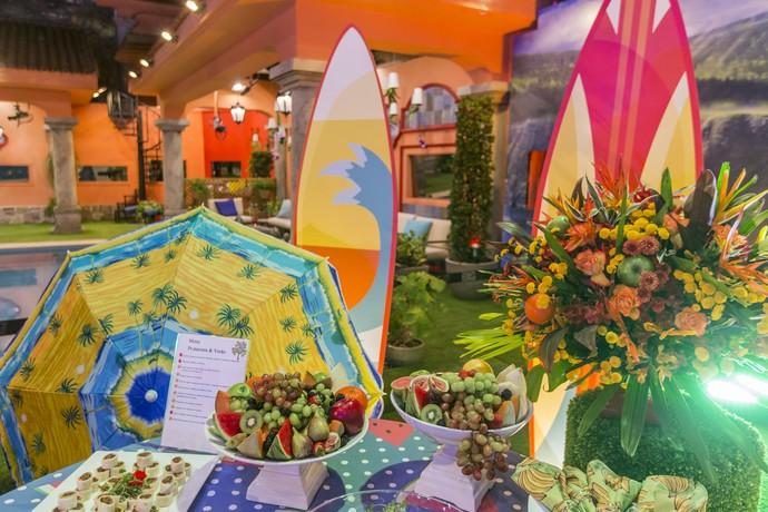 Clima tropical também foi parte da decoração (Foto: Artur Meninea/Gshow)