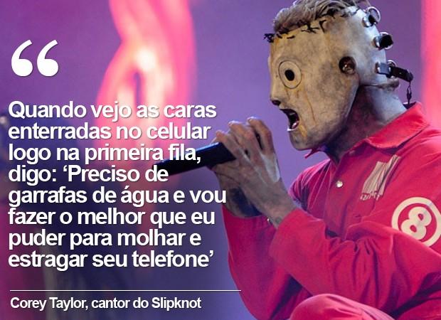 Corey Taylor Slipknot (Foto: Flavio Moraes / G1)