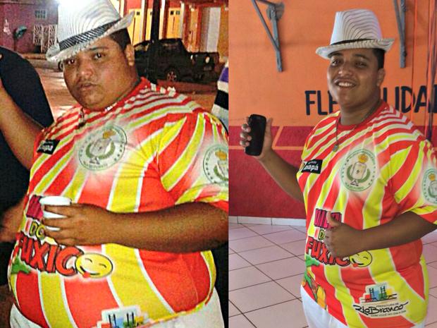 Eliel Correa, de 20 anos, perdeu 57 quilos em seis meses com exercícios e dieta (Foto: Arquivo Pessoal)