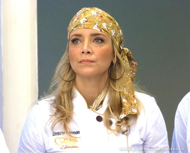 Segunda eliminada do reality, Christine Fernandes recebeu 20% dos votos (Foto: Mais Você / TV Globo)