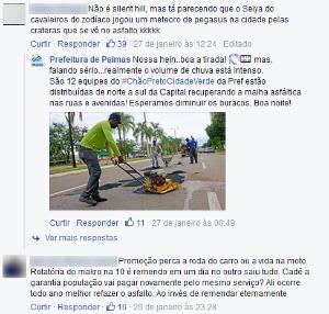 Internauta cobrou prefeitura pela internet (Foto: Reprodução)