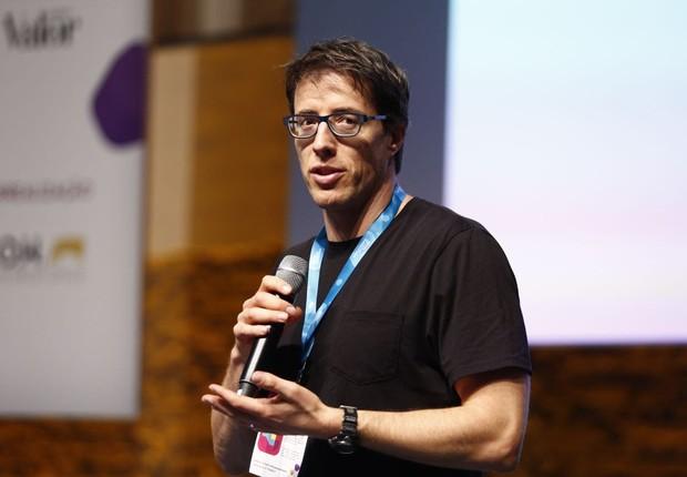 Jonathan Levav durante sua palestra no Festival da Cultura Empreendedora (Foto: Ricardo Cardoso/Editora Globo)