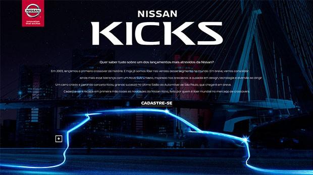 Nissan Kicks já aparece em site oficial (Foto: Reprodução)