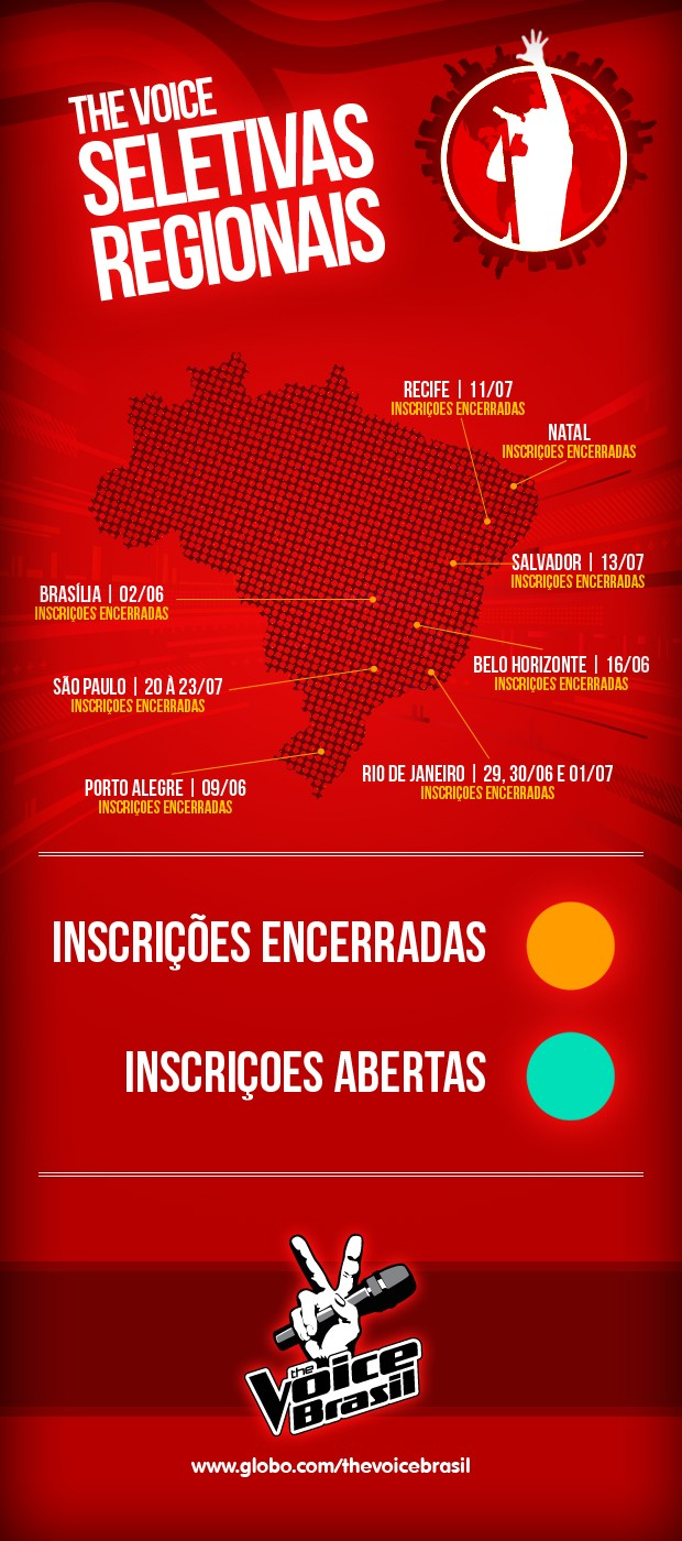 Calendário The Voice (Foto: TV Globo)