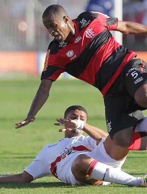 Airton e Denilson, São Paulo x Flamengo (Foto: Moises Nascimento / Agência Estado)