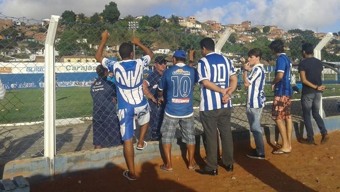 Bagé conversa com torcedores do CSA (Foto: Warner Oliveira/arquivo pessoal)